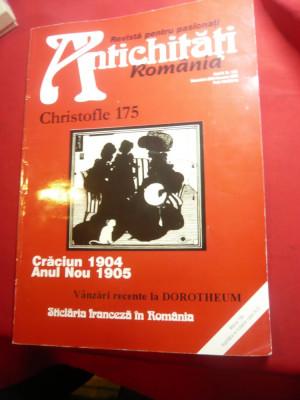 Revista Antichitati Romania - Christofle 175 Dec. 2004-ian.2005 ,114 pag foto