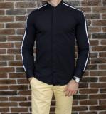 Camasa tunica neagra - camasa slim fit - camasa barbati - camasa ocazie