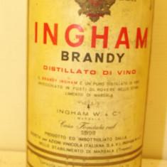 BRANDY INGHAM, PURO DISTILLATO DI VINO  L. 1 gr. 40 ANI 50/60