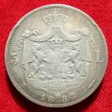 5 LEI 1883 ARGINT.