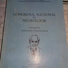 Carte Veche CONGRESUL NATIONAL DE NEUROLOGIE,Societate neurochirurgie  1966