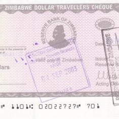 Bancnota Zimbabwe 1.000 Dolari (2003) - P15 UNC ( Travellers Cheques )