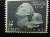 timbre deutsches reich - MONUMENTUL EROILOR MI  812-  COMPLETA- NESTAMPILAT