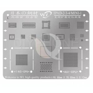 BGA Reballing WL Multi-Purpose IPad BGA Stencil Templates For Ipad 2/3/4   Mini 1