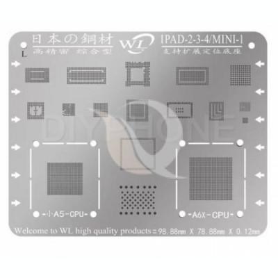 BGA Reballing WL Multi-Purpose IPad BGA Stencil Templates For Ipad 2/3/4 | Mini 1 foto