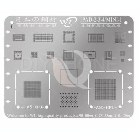 BGA Reballing WL Multi-Purpose IPad BGA Stencil Templates For Ipad 2/3/4 | Mini 1