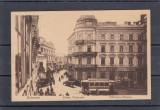 BUCURESTI  CALEA  VICTORIEI  TAMVAI LIBRARIA L. ALCALAY  CIRCULATA 1917 FELDPOST, Printata