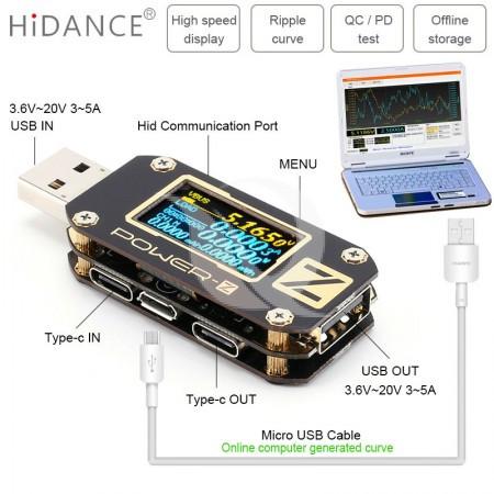 Aparatura Service POWER-Z USB Tester Type-C Micro USB Digital Voltmeter USB PD Tester QC3.0