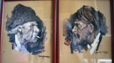 Set 2 tablouri Fumători de pipe - semnate Georgescu, datate 1935
