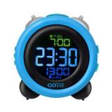 Ceas desteptator cu alarma GOTIE, cifre mari si clare pe panoul lcd, GBE-300N