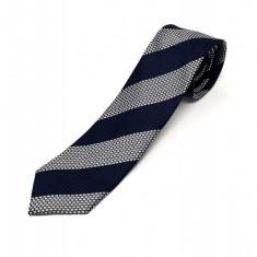 Cravata Matase Bleumarin Cu Dungi CR007-120