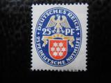 timbre deutsches reich -HERALDICA MI  400X-   NESTAMPILAT CU SARNIERA