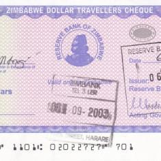 Bancnota Zimbabwe 10.000 Dolari (2003) - P17 UNC ( Travellers Cheques )