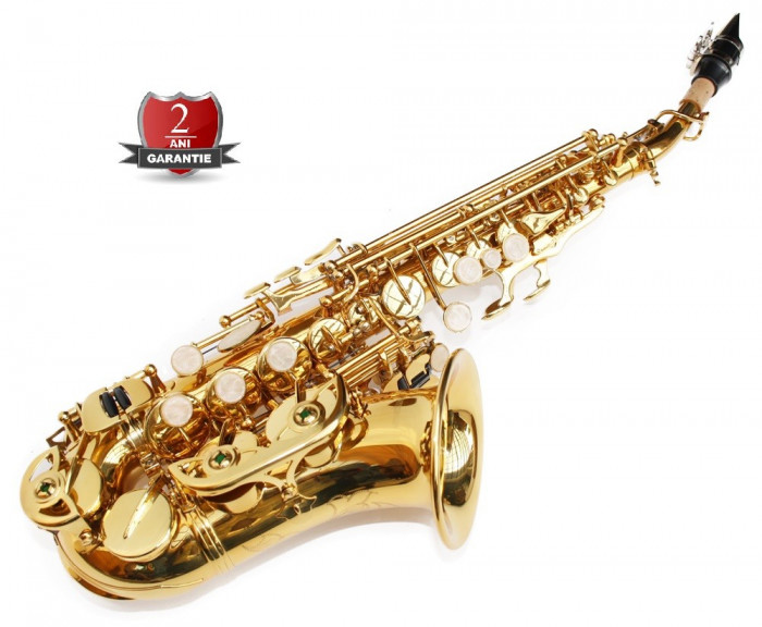 Saxofon curbat Sopran Sopranina Cherrystone Si b nou Germania