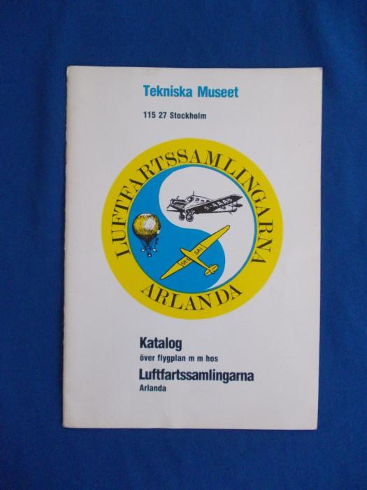 CATALOG AVIOANE , TEKNISKA MUSEET , STOCKHOLM , 1983