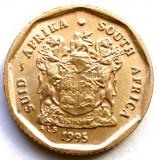 AFRICA DE SUD , 10 CENTS 1995 , STEMA CU LEUL BRITANIC !!!