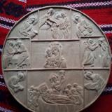 Icoana din lemn tei cu praznicele Maicii Domnului