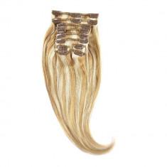 Clip-On Par Natural 40cm 90gr Blond Miere Suvitat/Blond Deschis #27/60