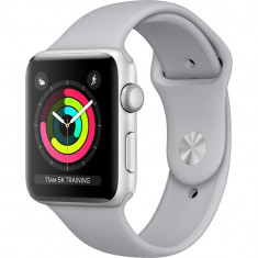 Watch 3 GPS Aluminiu Argintiu 42MM Si Curea Sport Cenusie, Apple