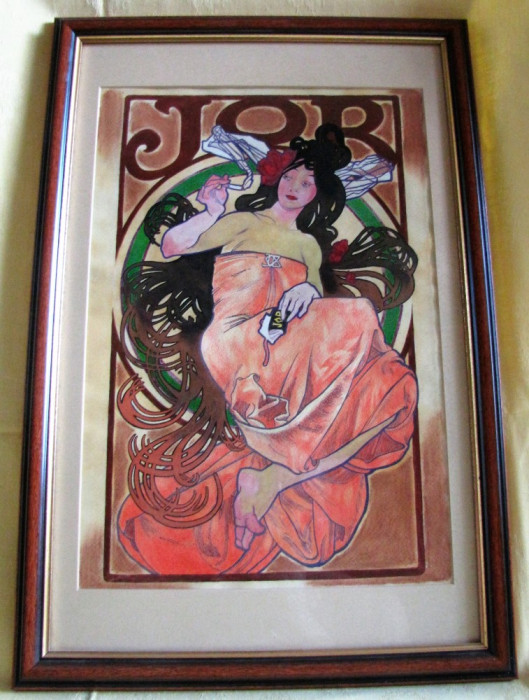 Tablou Opiu - nesemnat, nedatat, acuarelă pe carton