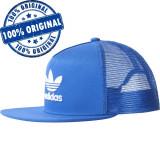 Sapca Adidas Originals Trefoil Trucker - sapca originala, Marime universala, Albastru