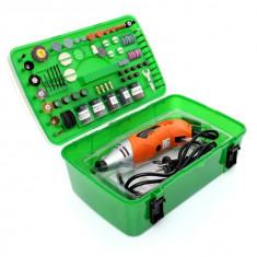 Mini freza electrica 170W 220V 218 piese KraftDele KD10281