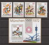 SENEGAL 1972 SPORT J.O. de VARA (serie + colita dantelate) MNH