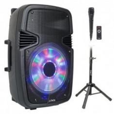Boxa activa Ltc cu bt,usb mp3,stativ,microfon etc,200w
