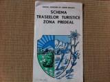 schema traseelor turistice zona predeal harta oficiul judetean turism brasov RSR