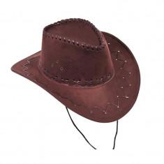 Palarie Cowboy, piele intoarsa, marime universala
