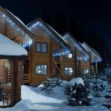 Blumfeldt ICICLE 160-WW LED-uri, lumini de Crăciun, țurțuri, 8 m, 160 de lumini LED-uri, culoare albă rece