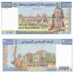 Djibouti 2000 Francs 1997 UNC