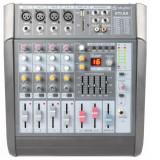 Skytec STL 6 A activ 6-canal amplificator mixer 600W USB SD MP3 EQ FX + 48V