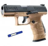 Pistol Airsoft Walther PPQ M2 T4E FDE CAL.43 CO2 5J - VU.2.4762 + Lanterna cadou