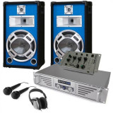"Electronic-Star DJ set complet ""Durch-Starter"" cutii- Amplificator Mixer"
