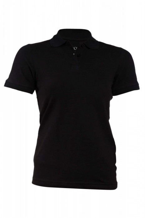 Tricou polo negru Lescon, de dama