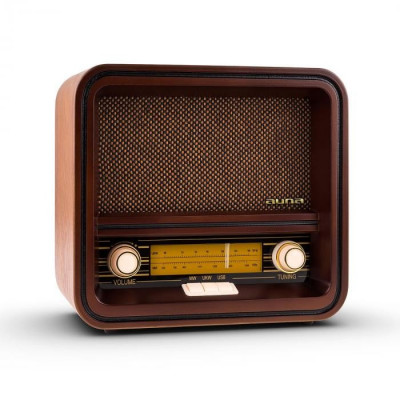 Auna Belle Epoque 1901 radio retro, radio nostalgic, FM, AM, USB, MP3 foto
