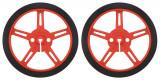 Pereche de Roţi Pololu 60 x 8 mm - Roșii