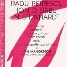 I. Manolescu - Literat. memorialistică. R. Petrescu, Ion D, Sîrbu, N. Steinhardt, Humanitas