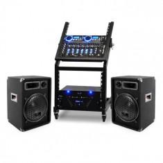 Ibiza DJ PA Set Seria Rack Star Uranus bluetooth 250 de persoane