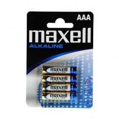 Set de 4 Baterii Alcaline LR03 / AAA Maxell