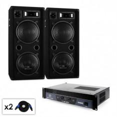 "Malone DJ PA Set 2.0 ""Beat"" cu amplificator, difuzor și cablu 1500W"