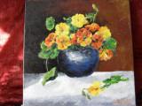 Vas cu flori 2-pictura ulei pe panza;