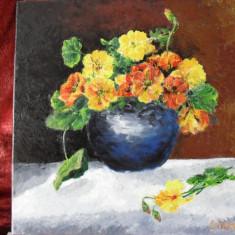 Vas cu flori 2-pictura ulei pe panza;, Altul