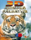 3D Animale sălbatice (poster + ochelari)