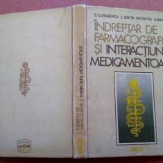 Indreptar De Farmacografie Si Interactiuni Medicamentoase - B. Cuparencu, Alta editura, 1984