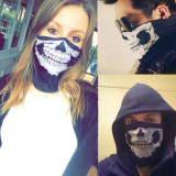 Masca skull ghost ski snowboard bandana esarfa biker skater moto airsoft craniu