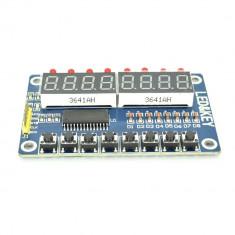 Display LED cu 8 Cifre și Butoane Bazat pe TM1638