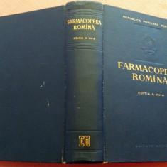 Farmacopeea Romana. Editia A VII - A - C. N. Ionescu, Alta editura, 1956