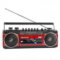 Auna Duke, RETRO BOOMBOX, magnetofon portabil, USB, SD, bluetooth, radio FM